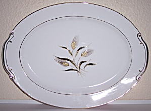 KUTANI CHINA GOLD WHEAT DECORATED LARGE PLATTER! (Image1)