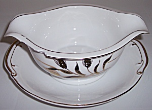 KUTANI CHINA GOLD WHEAT DECORATED GRAVY BOWL! (Image1)