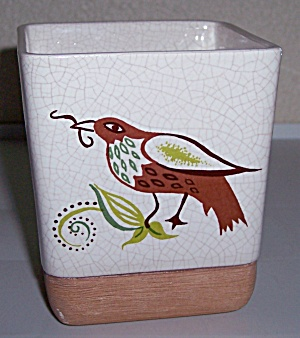 BARBARA WILLIS POTTERY DECORATED PROVINCIAL FLOWER POT! (Image1)