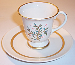 Franciscan Pottery Fine China Fremont Demi Cup/saucer