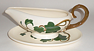 Metlox Pottery Poppy Trail Ivy Gravy W/underplate Mint