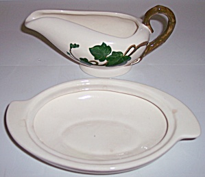 METLOX POTTERY POPPY TRAIL CALIFORNIA IVY BUTTER BASE! (Image1)