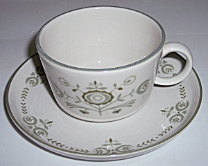 Franciscan Pottery Family China Heritage Cup/saucer Set