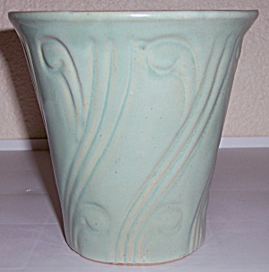 Pacific Pottery Early Art Deco 6 Green Flower Pot! (Image1)