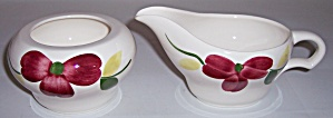Stetson China Company Red Floral Creamer/Sugar Set! (Image1)