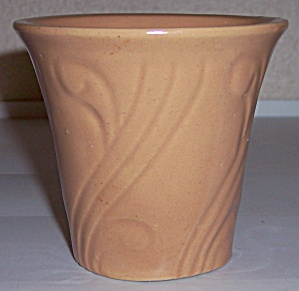 "PACIFIC POTTERY ART DECO 3.5"" APRICOT FLOWER POT! (Image1)"