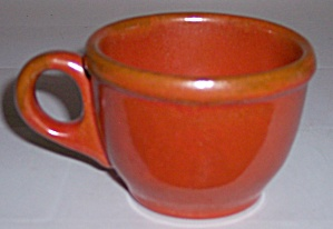 CATALINA ISLAND POTTERY RED CLAY TOYON RED COFFEE CUP! (Image1)