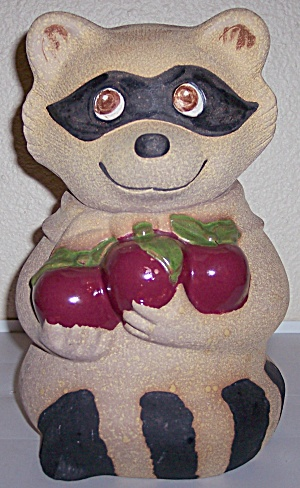 Metlox Pottery Poppy Trail Racoon Cookie Jar