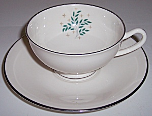Syracuse China Lyric Cup/saucer Set
