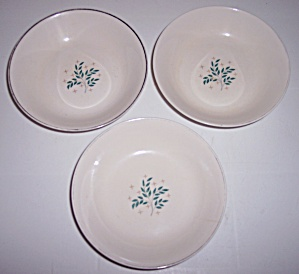 SYRACUSE CHINA LYRIC SET/3 FRUIT BOWLS! (Image1)