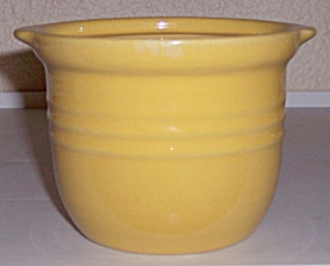 PACIFIC POTTERY HOSTESS WARE YELLOW CONDIMENT JAR! (Image1)