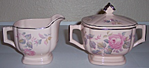 ROYAL CHINA ROSE MARIE SUGAR/CREAMER SET! (Image1)