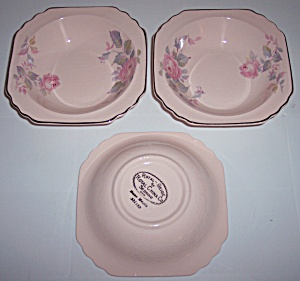 ROYAL CHINA ROSE MARIE SET/3 CEREAL BOWLS! (Image1)
