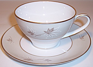 ZYLSTRA FINE CHINA FROSTED LEAVES CUP/SAUCER SET! (Image1)