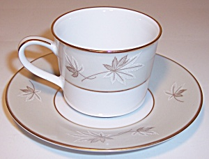 ZYLSTRA FINE CHINA FROSTED LEAVES DEMI CUP/SAUCER SET! (Image1)