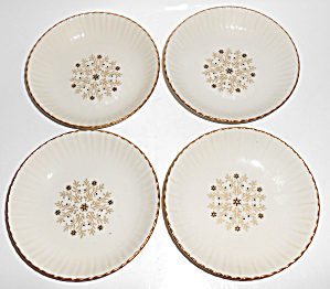 Harker Pottery China Forget-me-not Set/4 Fruit Bowls