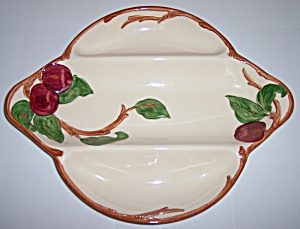 Franciscan Pottery Apple U.s.a. Early 3-part Relish