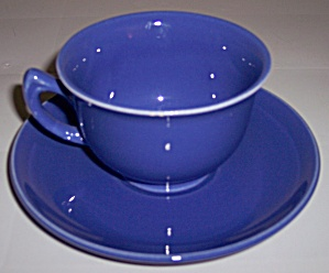 Metlox Pottery Poppy Trail Series 200 Cobalt Cup/saucer