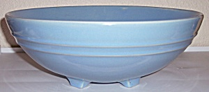 "Pacific Pottery Hostess Ware Blue 12"" Salad Bowl"
