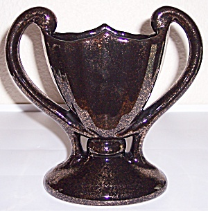 CAMARK POTTERY BLACK NOR-SO GOLD #404 VASE! (Image1)