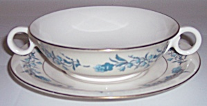 THEODORE HAVILAND CHINA CLINTON CREAM SOUP BOWL W/SAU! (Image1)