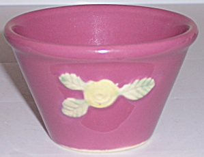 COORS POTTERY ROSEBUD EARLY RED CUSTARD CUP! (Image1)