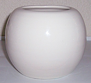 Bauer Pottery Fred Johnson White Rose Art Bowl ! (Image1)