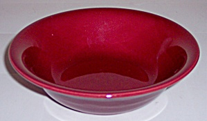 FRANCISCAN POTTERY EL PATIO MAROON CEREAL BOWL! (Image1)