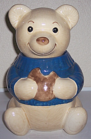 Metlox Pottery Poppy Trail Teddy Bear Cookie Jar #2