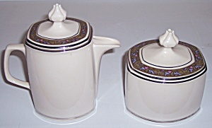 Franciscan Pottery Fine China Constantine Cr/sugar Set