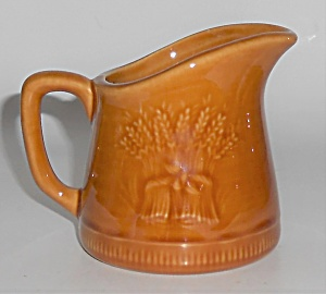 Franciscan Pottery Wheat Harvest Brown Miniature Jug