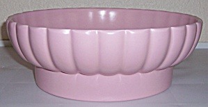 BAUER POTTERY TRACY IRWIN LARGE PINK PUMPKIN ART BOWL! (Image1)