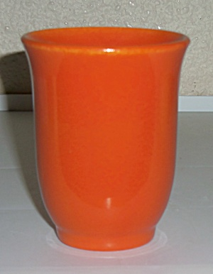 FRANCISCAN POTTERY EL PATIO FLAME ORANGE TUMBLER ! (Image1)