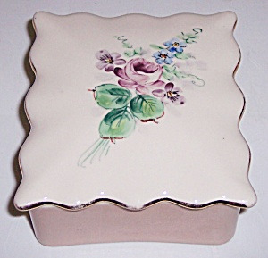 Franciscan Pottery Kaolena China Floral W/gold Box