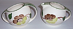 BLUE RIDGE POTTERY SERENADE CREAMER/SUGAR SET! (Image1)