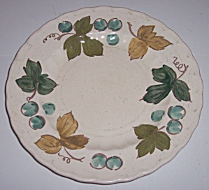 METLOX POPPY TRAIL POTTERY VINEYARD SALAD PLATE! (Image1)