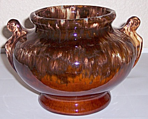 BRUSH McCOY POTTERY BROWN ONYX LARGE URN VASE! (Image1)