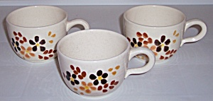 Franciscan Pottery Toffee Set/3 Cups Mint