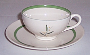 FRANCISCAN POTTERY FINE CHINA WESTWOOD DEMI CUP/SAUCER! (Image1)