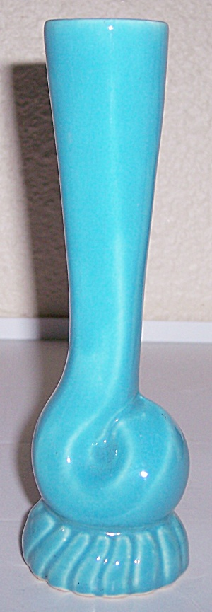 BAUER POTTERY CAL-ART TURQUOISE BUD VASE! VERY RARE! (Image1)
