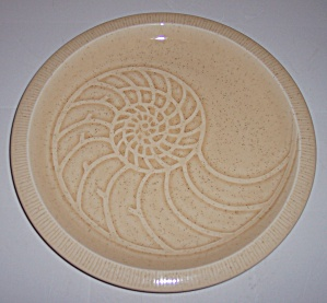Franciscan Pottery Sculptures Sand Nautilus Lunch Plate