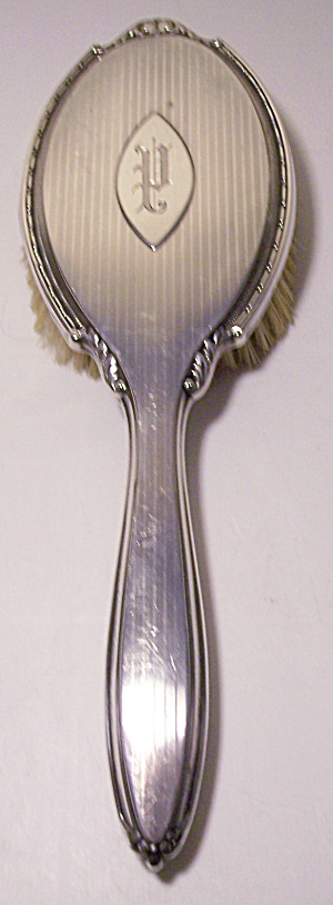ANTIQUE INTERNATIONAL SILVER CO. STERLING 10 HAIRBRUSH (Image1)