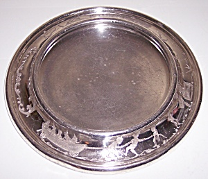 ANTIQUE EUREKA SILVER CO. 8.5 BABY DISH!  GREAT DESIGN (Image1)