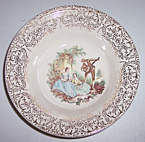 AMERICAN LIMOGES SERENADE 22 KT GOLD CEREAL BOWL! (Image1)