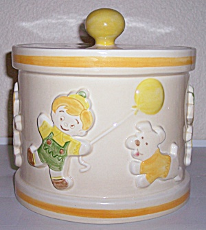 METLOX POTTERY POPPY TRAIL GINGERBREAD COOKIE JAR! (Image1)