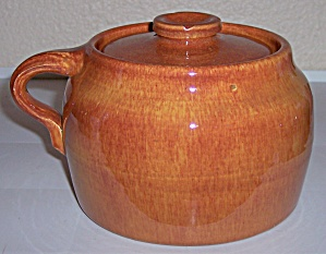 Bauer Pottery Plain Ware Red/brown Bean Pot