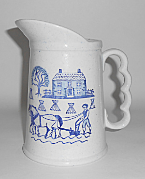 Metlox Pottery Poppy Trail Provincial Blue 24oz Pitcher