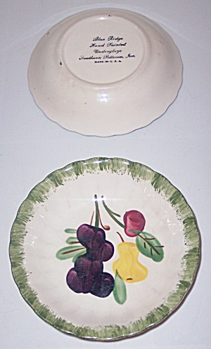 Blue Ridge Pottery Fruit Fantasy Large Pr Fruit Bowls! (Image1)