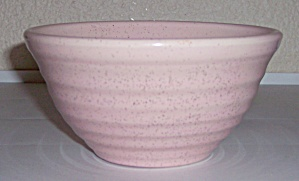 BAUER POTTERY RING WARE #30 PINK SPECKLE MIXING BOWL! (Image1)