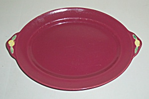 COORS POTTERY ROSEBUD RED PLATTER! (Image1)